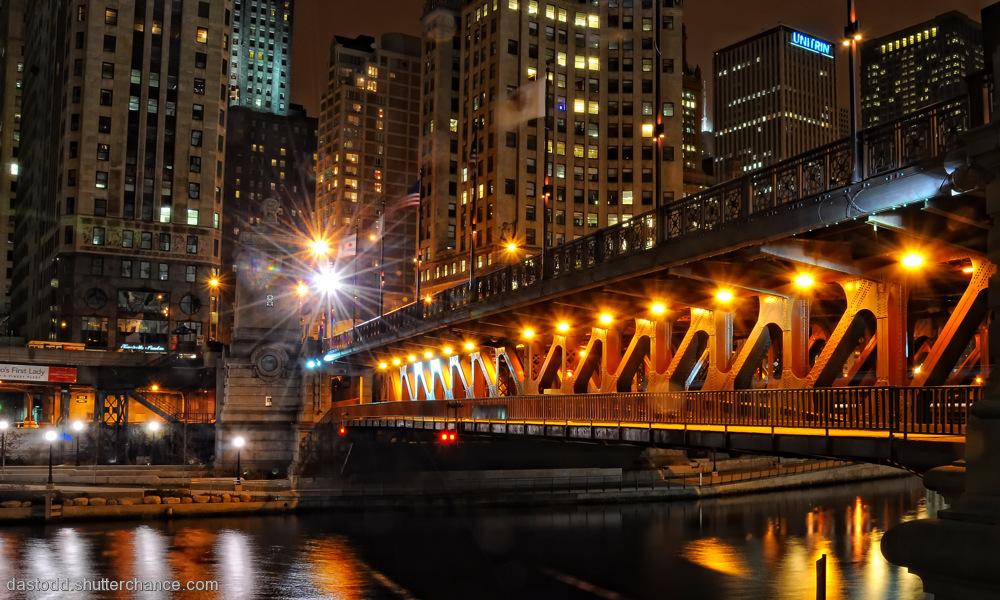 photoblog image Michigan Ave Bridge Lights